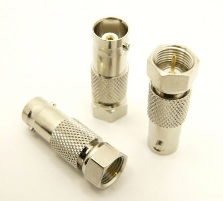 BNC-female / F-male Adapter (P/N: 7243)