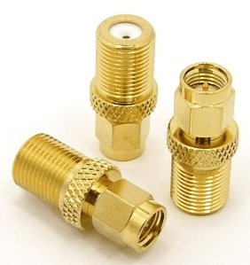 SMA-male / F-female Adapter (P/N: 7291)