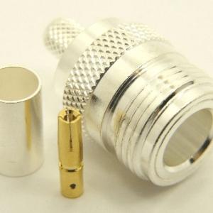 N-female, cable end, crimp-on for RG-223 RG-59 LMR-240 and RG-8X mini 8 (P/N: 7306-8X)