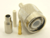 TNC-male, cable end, crimp-on, for RG-174, RG-178, RG-188, RG-196, RG-316, LMR-100A and Belden 8216 coaxial cable. (P/N: 7405-174)
