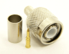 TNC-male, cable end, crimp-on for RG-223 RG-59 LMR-240 and RG-8X mini 8 (P/N: 7405-8X)