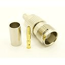 TNC-female, cable end, crimp on, for RG-142, RG-400, RG-58, RG58A/U, LMR-195, LMR-200, Belden 7807, Belden 8219, Belden 8259, and Belden 9201 coaxial cable. (P/N: 7406-58)