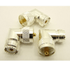 UHF-male / UHF-female Adapter, Right Angle (P/N: 7525-RA-TGS)