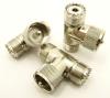UHF-female / UHF-male / UHF-female Adapter, Tee (P/N: 7526-T)