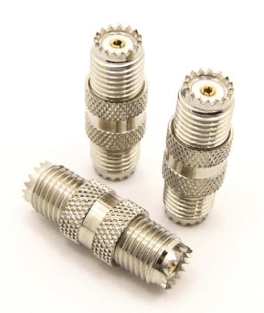 mini-UHF-female / mini-UHF-female Adapter (P/N: 7606)