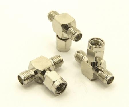 SMA-female / SMA-male / SMA-female Adapter, Tee (P/N: 7841-T)