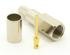 FME-male, cable end, crimp-on for RG-223 RG-59 LMR-240 and RG-8X mini 8 (P/N: 7905-8X)