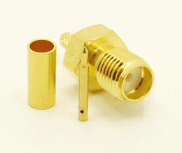 RP-SMA-female, cable end, crimp-on, for RG-174, RG-178, RG-188, RG-196, RG-316, LMR-100A and Belden 8216 coaxial cable. (P/N: 8896-174)
