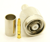 RP-TNC-male, cable end, crimp-on for RG-223 RG-59 LMR-240 and RG-8X mini 8 (P/N: 8900-8X)