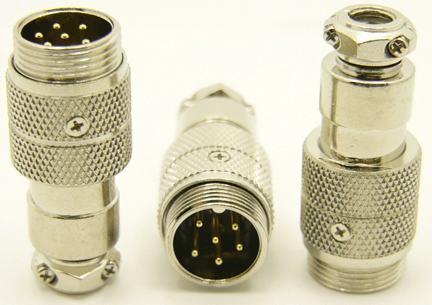 6-pin microphone jack cable extension (P/N: 9306-EXT)