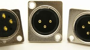 XLR male, bulkhead, 3 pins, Mic Jack (P/N: 9401)