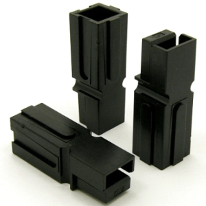 Power Pole Housing (BLACK) for 75 amp contacts. Good for 6 Gauge Wire (P/N: 9602-B)