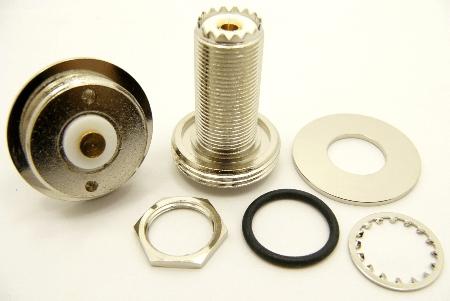 """UHF-Female / NMO (1.25"""" bulkhead) (P/N: 9935-125)"""