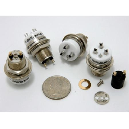 3.5 kV, 5 kV Peak, SPDT, 25 Amps, Gigavac GH-3 SPDT Ceramic Vacuum Relay - Max-Gain Systems, Inc.