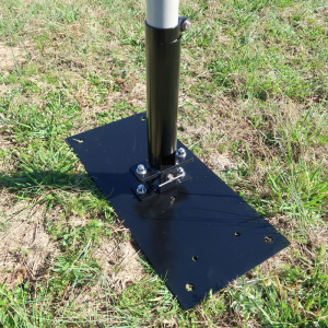 Ground Base Mast Mount Kit with Tilt Mechanism fully assembled - Max-Gain Systems, Inc.