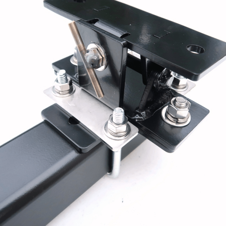 Trailer Hitch Mast Mount Assembley Tilt and Cross attached to Hitch Bar fully assembled - Max-Gain Systems, Inc.