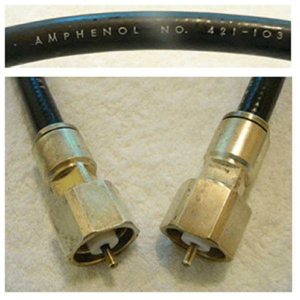 LT male to LT male coaxial jumpers