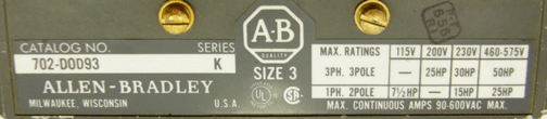Allen-Bradley 702-DOD93
