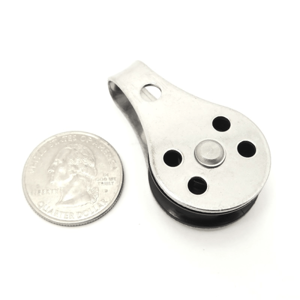 316 Stainless Steel PULLEY-01 size comparison - Max-Gain Systems, Inc.