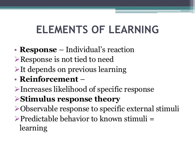 Learning, Reinforcement and Behavior