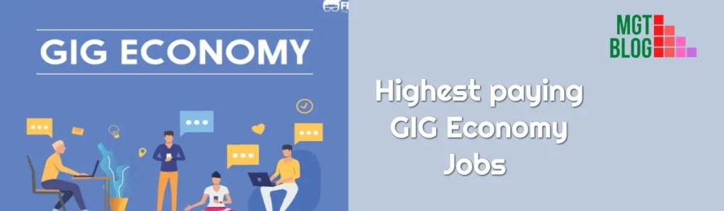 highest paying GIG Economy Jobs