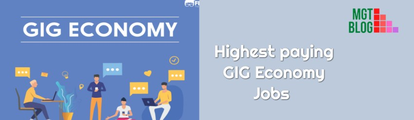 highest paying GIG Economy Jobs