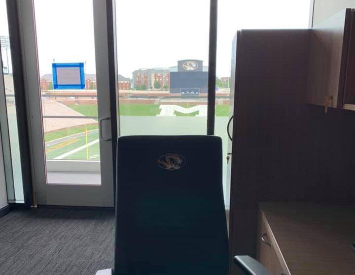 University of Missouri Stadium With Added Glass Privacy & Decor