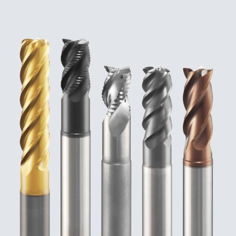 End Mill, Ball Nose, Roughing End Mill, Bull Nose, Slot Drill, Carbide, Coated, Franken