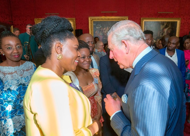 HRH The Prince of Wales and HRH The Duchess of Cornwall host a reception in the State Rooms of St James's Palace in London ahead of their forthcoming official visit to West Africa. Wednesday 24th Oct 2018 Photograph by  Ian Jones