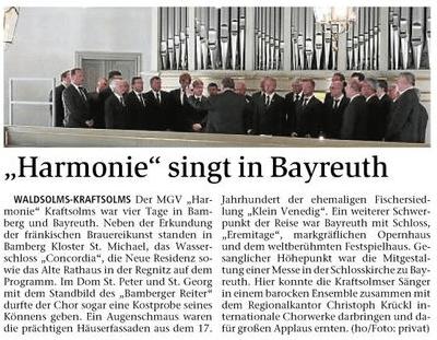 13 06 2015 harmonie singt in bayreuth - Zeitungsberichte
