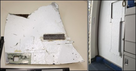 Comparison of recovered item with MAB Boeing 777 Door R1 panel assembly. Source: ATSB