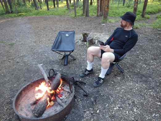 Our first campfire of the trip!
