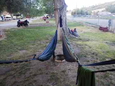 Camping at Pocatello's K.O.A., the third ever built. They had showers!