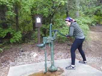 Pumping water old school.