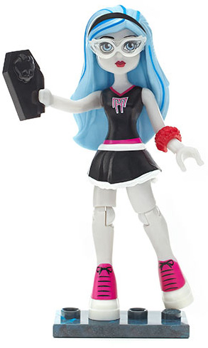 ghoulia has long light blue hair with sky blue streaks that is pulled back by a black headband she has a pale complexion pale blue eyes behind white - Ghoulia Yelps