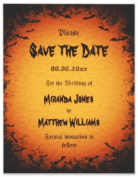 halloween save the date template