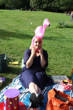 Alice is Alice is Alice decides to become a flamingo.