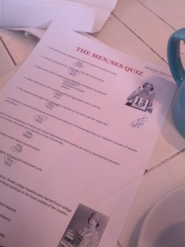 Before moving onto the 'Menses' Quiz!