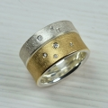 silver and 18ct gold with diamond (£920 sold)
