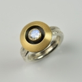 silver and 18ct gold with moonstone (£475)