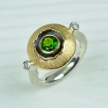 silver and 18ct gold with chrome diopside and diamonds (£760 sold)