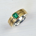 18ct and silver with emerald (£1220)
