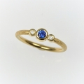 18ct with sapphire and diamond (£920 sold)