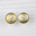 silver and fine gold studs with diamond (£340 sold)