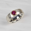 silver and 18ct with ruby and diamonds (£390 sold)