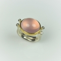 22ct gold and silver with rose quartz and diamonds (£695)