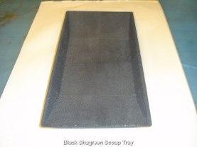 Black Shagreen Scoup Tray