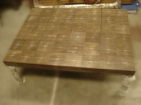 Chocolate Shagreen Table