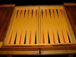 Gold Tooled Calf Skin Inlayed Backgammon 2