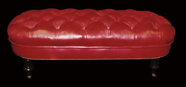 Hand-dyed Leather Bench_jpg
